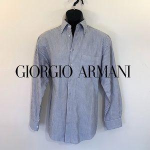 Armani Striped Dress Shirt 15 neck regular fit